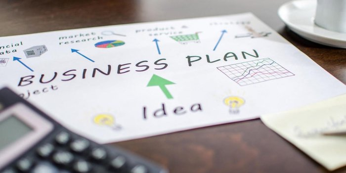 Business Plan Mindmap Illustration