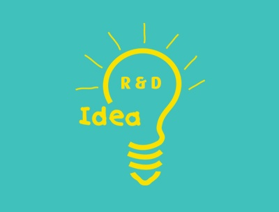 R&D light bulb illustration