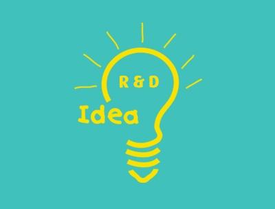 R&D Light bulb illustration