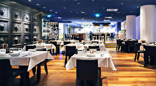 Fine dining restaurant interior