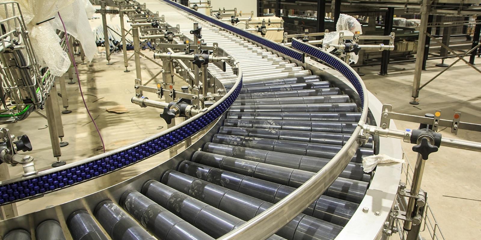 Conveyor Belt in a Factory