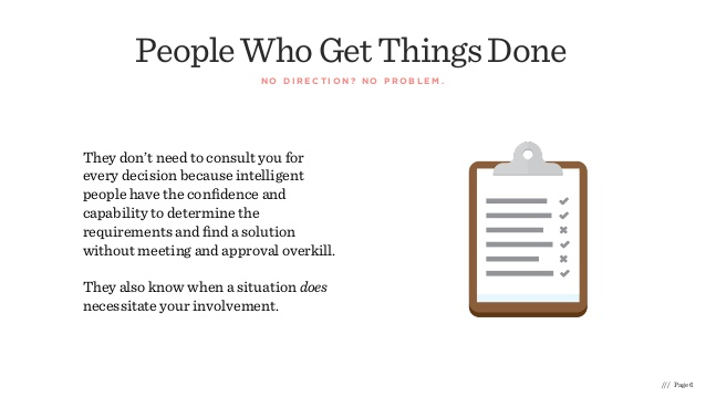 People Who get Things Done Quote and Illustration